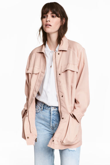 H&M Lyocell utility jacket in powder pink