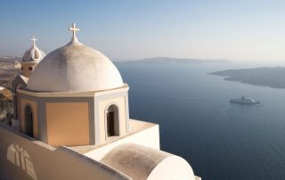 View from Santorini Greece