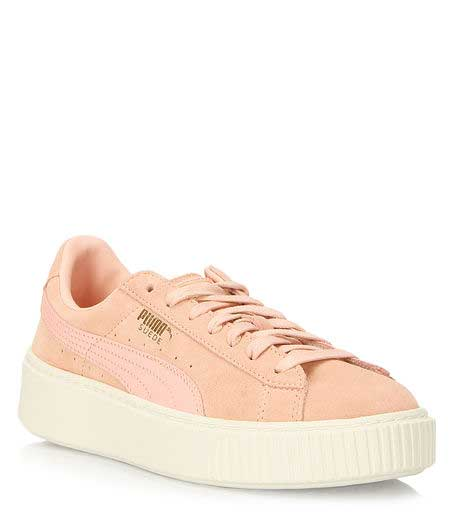 Puma Suede Platform Core in Pink at Browns.