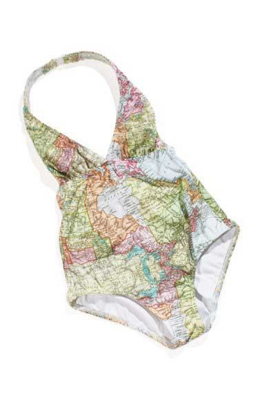 Tuck Shop Co. Bather Map halter one-piece swimsuit