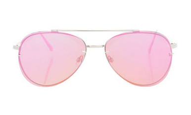 Pink Topshop Attitude Lens Aviator Sunglasses