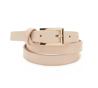 Forever21 Skinny Faux Leather Belt Pink