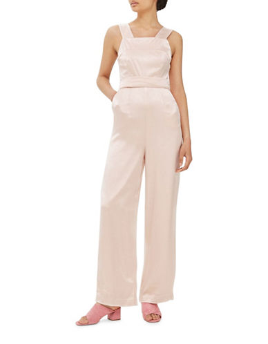 Topshop Satin Strap Back Jumpsuit