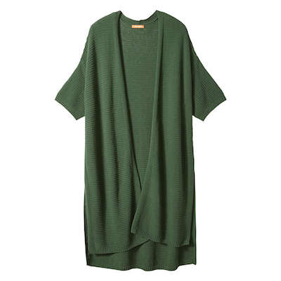 Joe Fresh green women's open short-sleeved cardigan
