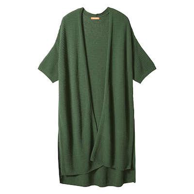 Joe Fresh green women's open short-sleeved cardigan