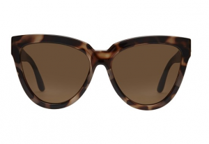Le Specs cat eye Liar Liar sunglasses in Volcanic Tort