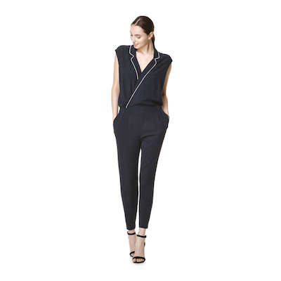 Joe Fresh navy piped jumpsuit