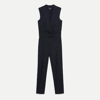 Judith and Charles pinstripe Florian Jumpsuit