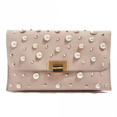 Topshop Cindy Faux pearl studded clutch purse