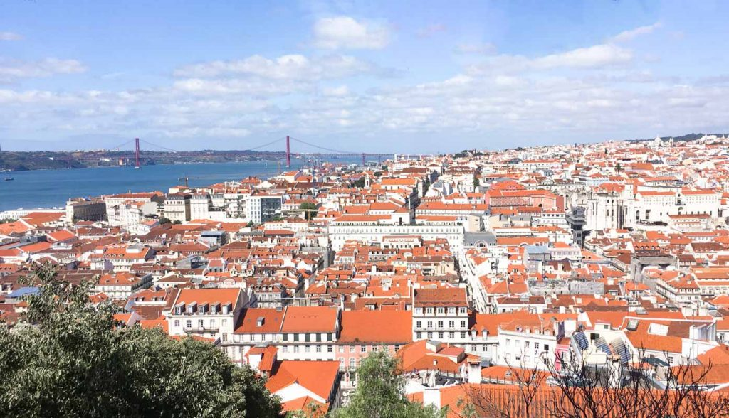 View of Portugal rooftops