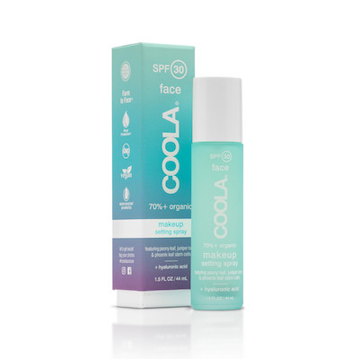 Coola makeup setting spray spf