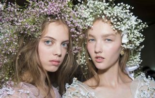 Nars Rodarte Fashion Show SS18 haute couture models backstage