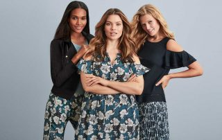 Models wearing the new extended sizing pieces from Joe Fresh