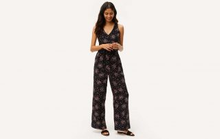 floral jumpsuit on model