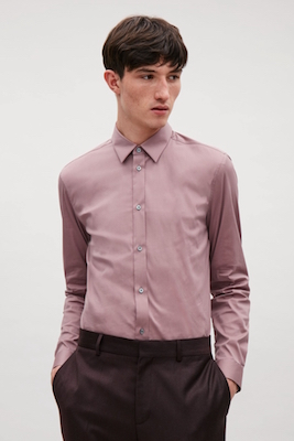 Slim-fit cotton shirt COS.