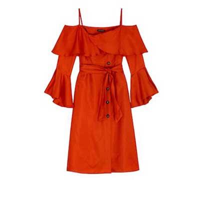 Olivia Palermo x Banana Republic Ruffled Off-the-Shoulder Dress