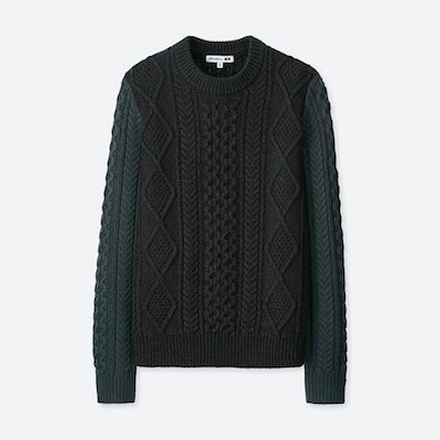 Uniqlo X JWA Cable Crew Neck Long-Sleeve Sweater