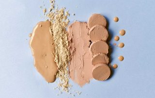 Editors Inc. Photo of different foundations and powdwers
