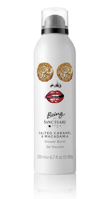 Being by Sanctuary Spa Salted Caramel & Macadamia Shower Burst
