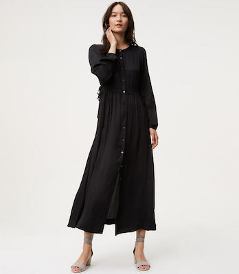 Shimmer Maxi Shirtdress, $117 at Loft.