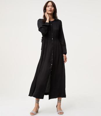 Shimmer Maxi Shirtdress, $117 at Loft.