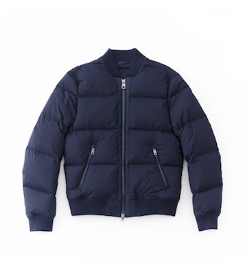 Quilted-Nylon Bomber Jacket, $395