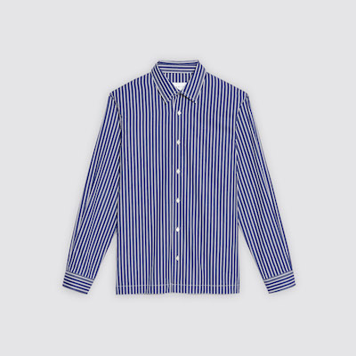 Oversized two-tone striped shirt, $225 USD at Sandro.