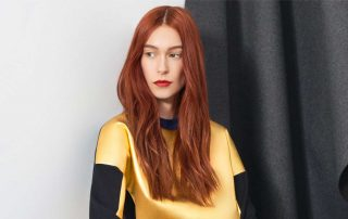 Image of a model from the Marie Saint Pierre Fall 2017 Lookbook