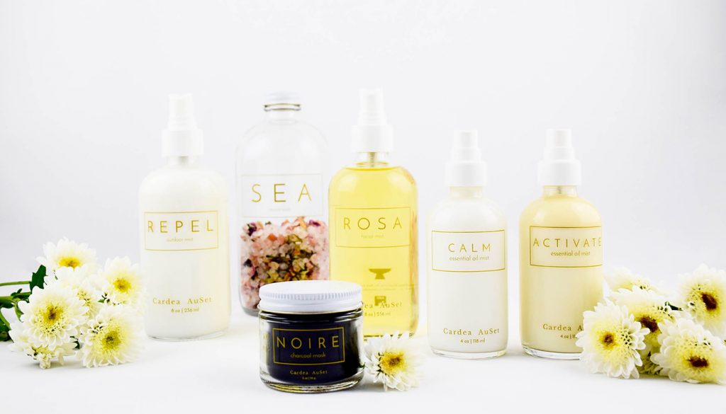 Cardea AuSet natural beauty brand product line