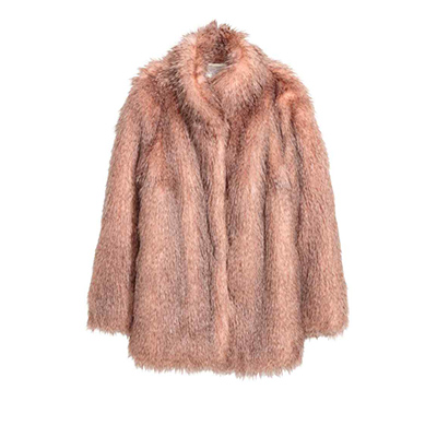 Short Faux Fur Coat, $129 at H&M.