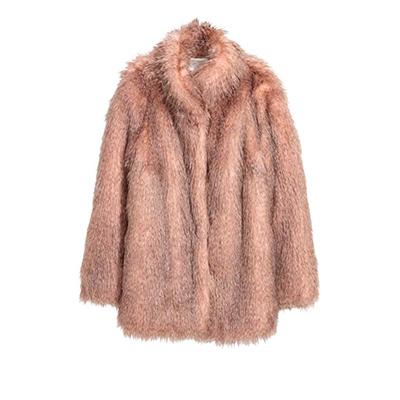 Short Faux Fur Coat, $129 at H&M.