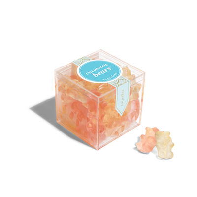 Sugarfina Champagne Bears Large Candy Cube, $25 for at sugarfina.ca