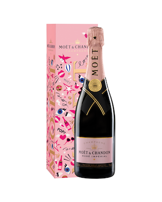 Moët & Chandon Rosé Impérial champagne, $82 at liquor stores.