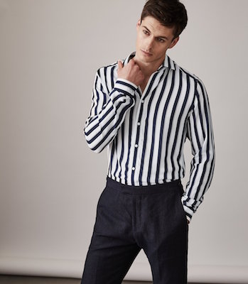 Reiss Finnie Striped Shirt, $195 at reiss.com/ca.