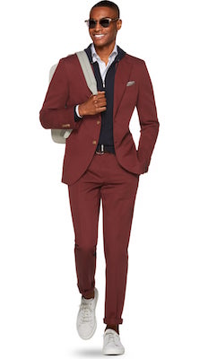 Suitsupply Havana Red Suit, $589 at ca.suitsupply.com.
