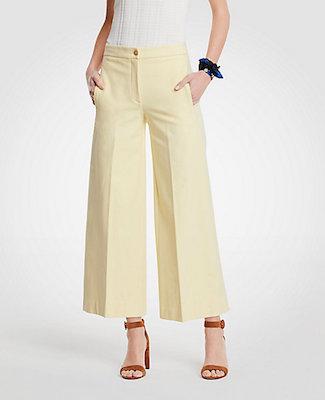 Wide-Leg Marina Pant, $132 at Ann Taylor.