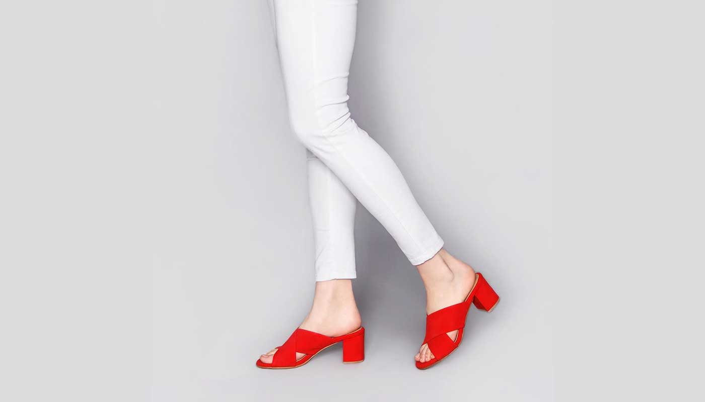 Poppy Barley Shoes Red