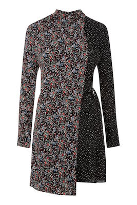 Topshop Mix-and-Match Floral Spot Wrap Dress, $78 (from $130) at thebay.com.