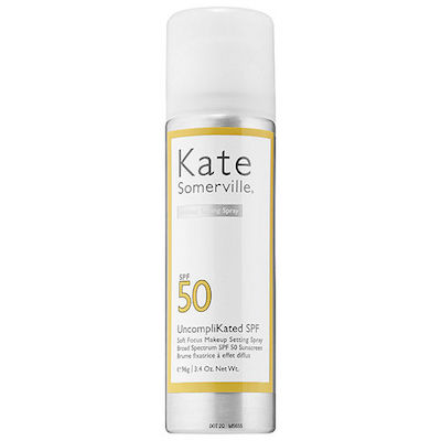 Kate Somerville UncompliKated SPF 50 Soft Focus Makeup Setting Spray, $49 at Sephora.