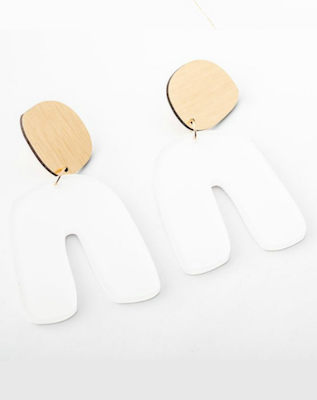 DConstruct Powder Fluid Curve Earring, $70 at shopgirls.ca.