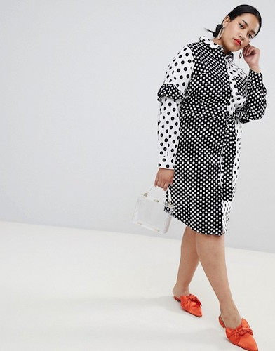 Lost Ink Plus Shirt Dress With Tie Waist, $84 at asos.com.