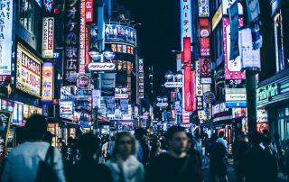 Picture of a busy street in Shibuya