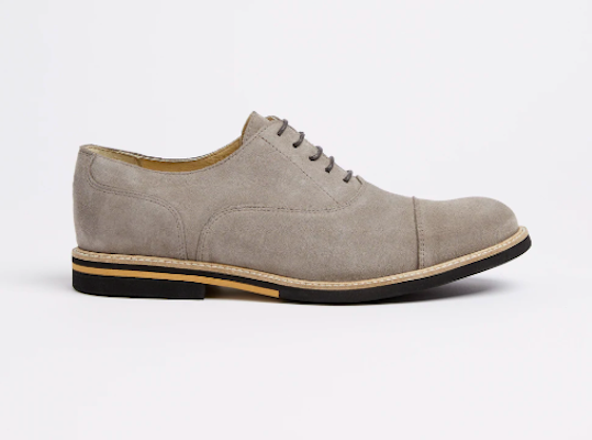The Greenwich Suede Cap-Toe Derby, $149 at frankandoak.com.